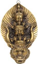 Yamantaka, Mahakala, Manjushri (Wall Hanging Mask)