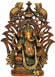 Decorated Lord Ganesha