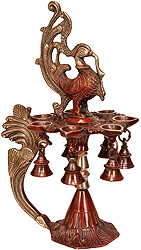 Seven-Wick Mayur Lamp With Bells