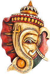 Lord Ganesha Mask with Trishul