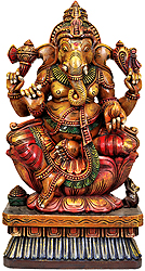 Kamalasana Chaturbhuja Ganesha
