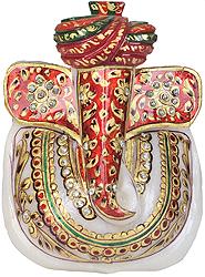 Decorated Turbaned Ganesha