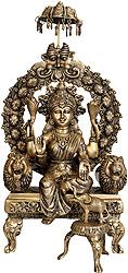 Enthroned Lakshmi