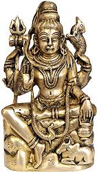 Lord Shiva Seated on Mountain
