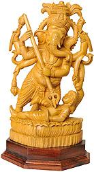 Lorg Ganesha Killing Asura