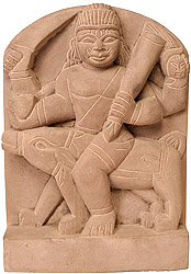 Bhairava Carved in Relief