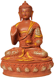 Buddha in Vitarka Mudra (Robes Decorated with The Images of His Life)