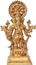 Heramba Ganapati (Ganesha with Lion)