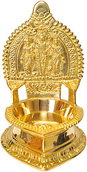Vishnu Diya with Bhudevi and Shridevi