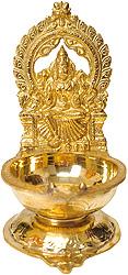South Indian Goddess Durga Lamp