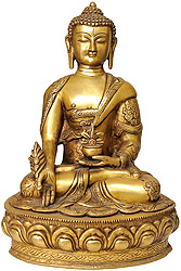 Medicine Buddha (Robes Decorated with Auspicious Symbols)