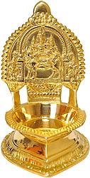 Shiva Parvati on Nandi Diya