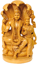 Vishnu and Lakshmi Ji Under Sheshanaga