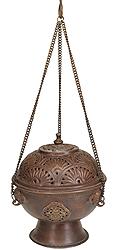 Hanging Incense Burner with Auspicious Symbols