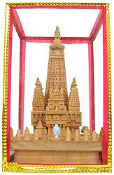Mahabodhi Temple of Bodhgaya (With A Charger  to Illuminate Sanctum Sanctorum (Garbhagriha))
