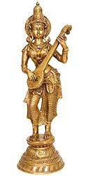 Devi Saraswati Playing Veena
