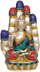 Buddha Seated in Blessing Hand