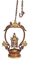 Hanging Lord Venkateshvara with Chakra and Conch