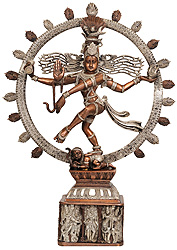 Nataraja Pedestal Decorated with Different Forms of Shiva