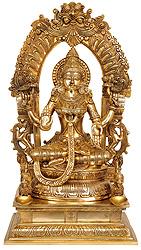 Goddess Lakshmi with Floral Aureole
