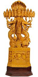 Cosmic Vision of Vishnu (Large Size Statue)