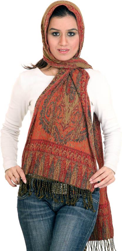 jamawar boiled wool scarf