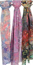 Lot of Three Digital-Printed Stoles