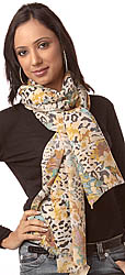 Multi-Color Scarf with Wild-Life Print