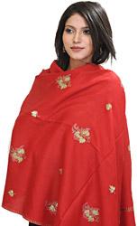 Kashmiri Stole with Needle Embroidered Bootis