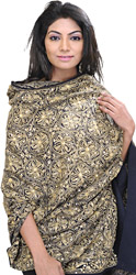 Shawl from Amritsar with Ari Embroidery and Sequins