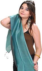 Plain Reversible Water-Pashmina Scarf from Nepal