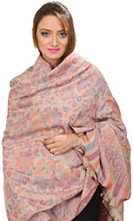 Kani Jamawar Shawl with Woven Flowers