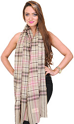 Pure Pashmina Burberry Stole Fine Enough to Pass Through a Ring