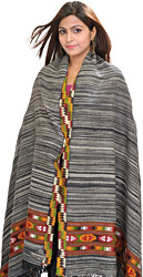 Shawl from Kullu with Kinnauri Woven Border