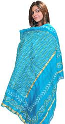 Capri-Breeze Bandhani Tie-Dye Gharchola Dupatta From Gujarat