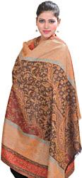 Multi-color Reversible Jamawar Shawl From Amritsar