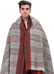 Men's Shawl from Kutch with All-Over Weave