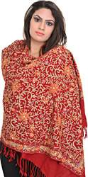 Stole from Amritsar with Ari Embroidery All-Over and Sequins