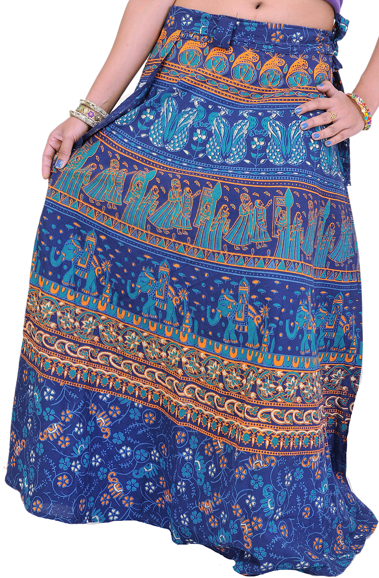 indian wrap skirt instructions