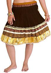Mini-Skirt Ghagra from Jaipur with Gota Border