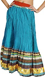 Long Ghagra Skirt from Jaipur with Gota Border and Lace