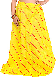Long Ghagra Anchor Skirt with Stitched Ribbons