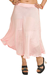 Plain Satin Midi Skirt
