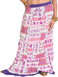Long Skirt with Ikat Print and Patchwork