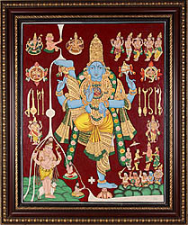 Vamana Incarnation - Tanjore Painting