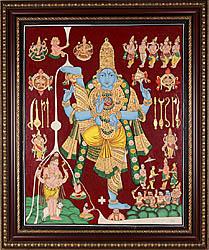 Vamana Incarnation - Tanjore Painting