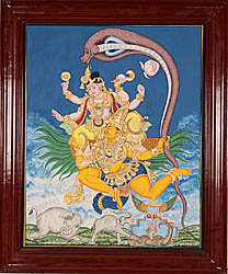 Gajendra Moksha (Liberation of Elephant King from the Jaws of Crocodile by Vishnu