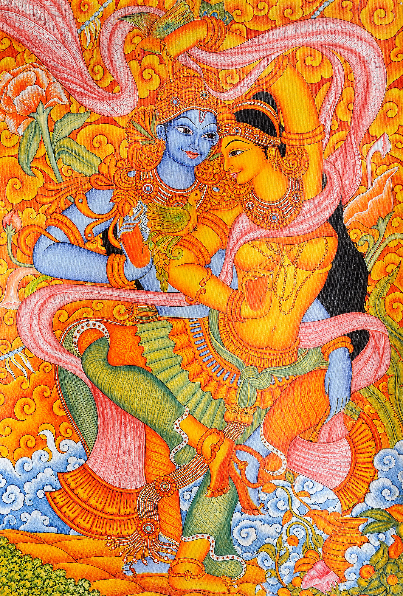 Kerala mural painting image 150 for Buy kerala mural paintings online