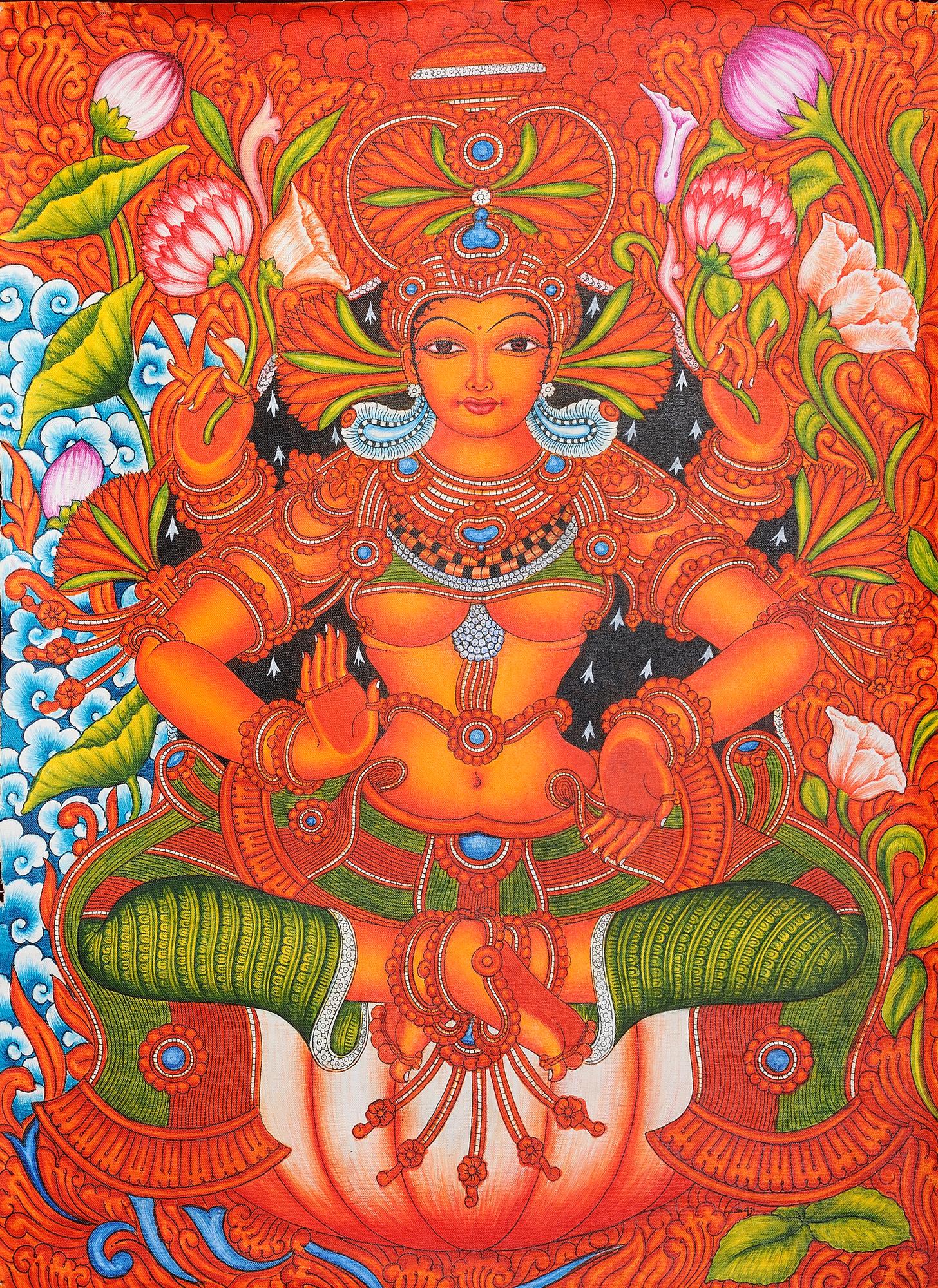 Pics for printable kerala mural painting designs for Mural painting designs