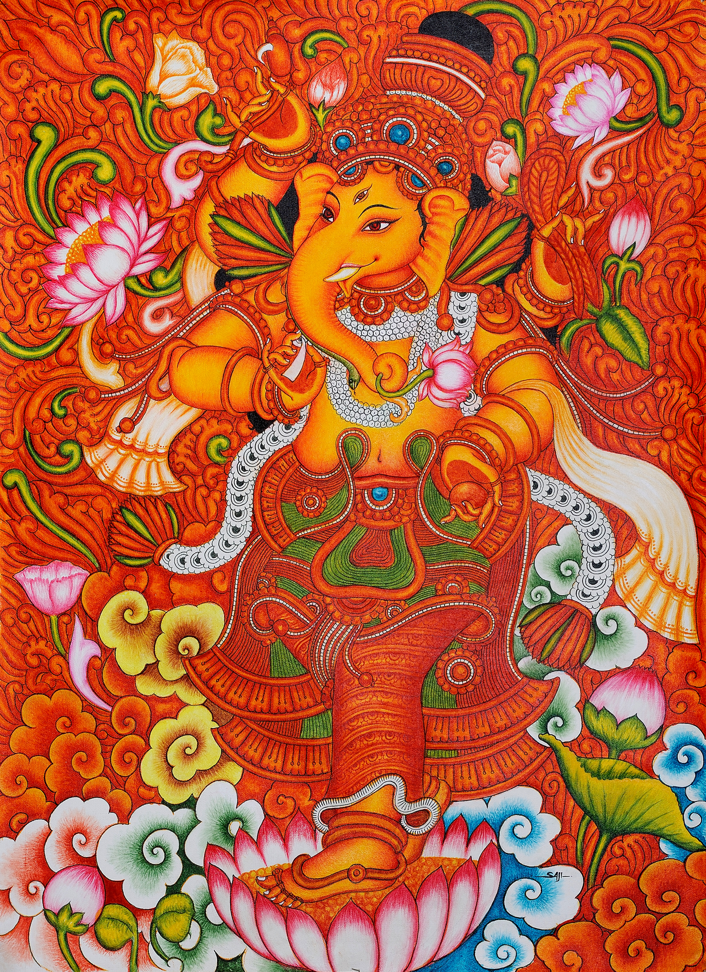 Lord ganesha for Buy mural paintings online